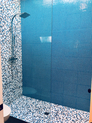 Brio Glass Mosaic Tile |  Blue Skies