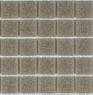 Sample of Brio Glass Mosaic Tile | Gravel