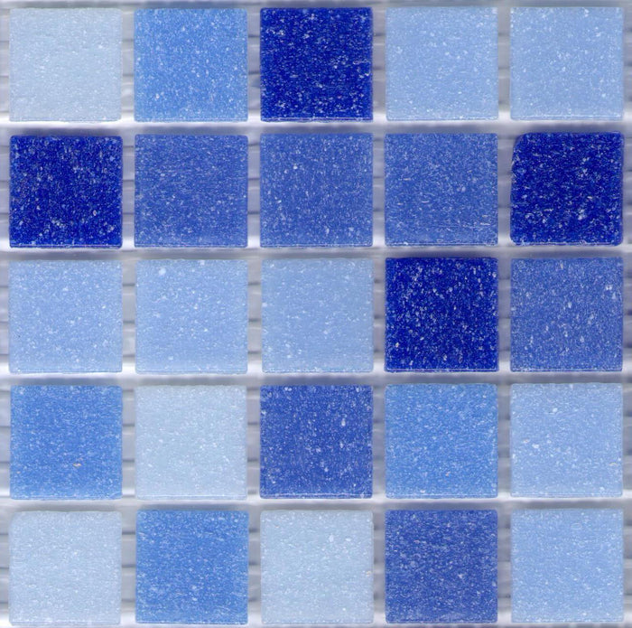 Sample of Brio Glass Mosaic Tile | Newport Blend