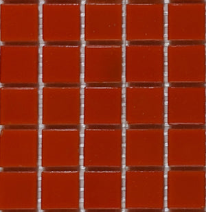 Sample of Brio Glass Mosaic Tile | Urban Orange