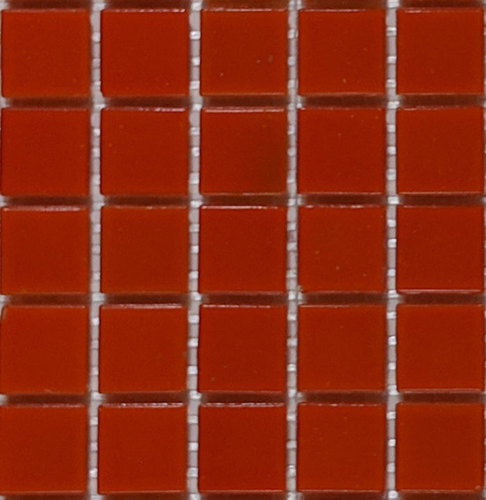 Sample of Brio Glass Mosaic Tile | Blood Orange