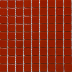 Modwalls Brio Glass Mosaic Tile |  Blood Orange | Modern tile for backsplashes, kitchens, bathrooms, showers, pools, outdoor and floors