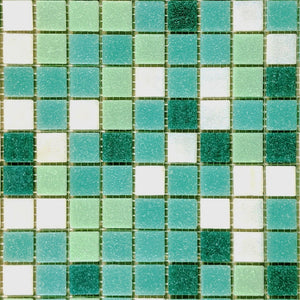 Modwalls Brio Glass Mosaic Tile | Sunnydale Blend | Modern tile for backsplashes, kitchens, bathrooms, showers, pools, outdoor and floors