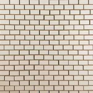 Modwalls Clayhaus Ceramic Mosaic Rectangle Offset 1x2 Tile | 103 Color
