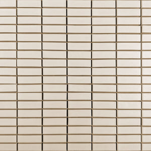 Modwalls Clayhaus Ceramic Mosaic 1x3 Stacked Tile | 103 Colors | Modern tile for backsplashes, kitchens, bathrooms and showers