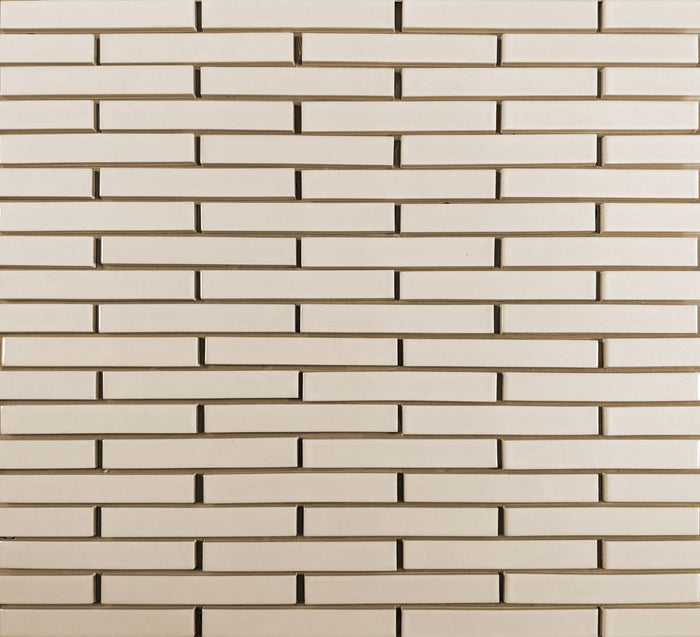 Clayhaus Ceramic Mosaic 1X6 Offset Tile | 103 Colors