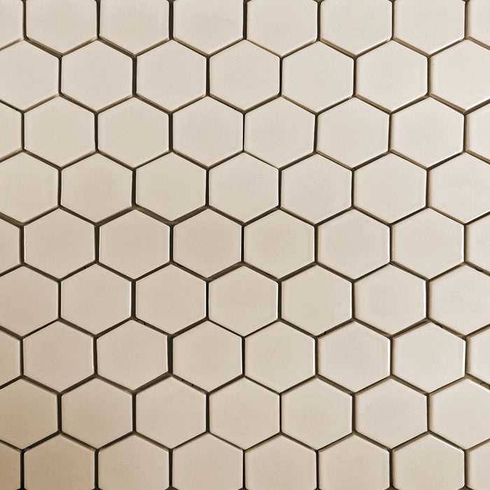 "Clayhaus Ceramic Mosaic 2 1/2"" Hexagon Tile 