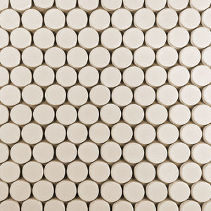 Modwalls Clayhaus Ceramic Mosaic Circle Offset Tile | 103 Colors | Modern tile for backsplashes, kitchens, bathrooms and showers