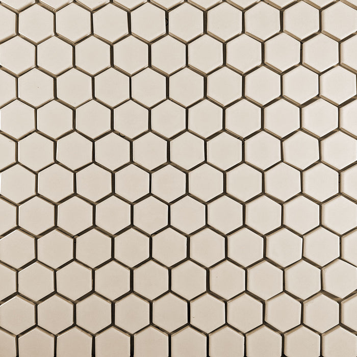 "Clayhaus Ceramic Mosaic 2"" Hexagon Tile 