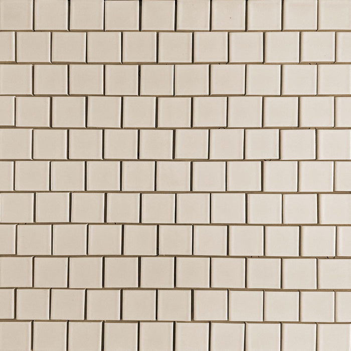Clayhaus Ceramic Mosaic 2X2 Offset Tile | 105+ Colors