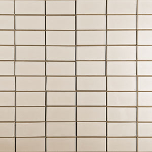 Modwalls Clayhaus Ceramic Mosaic 2x4 Stacked Tile | 103 Colors | Modern tile for backsplashes, kitchens, bathrooms and showers