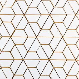 Modwalls Clayhaus Ceramic Mosaic Half Hex Pattern B Tile | 103 Colors | Modern tile for backsplashes, kitchens, bathrooms and showers