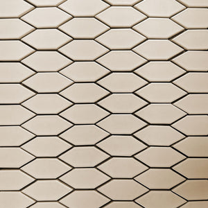 Modwalls Clayhaus Ceramic Mosaic Crystal Hex Pattern A Tile | 103 Colors | Modern tile for backsplashes, kitchens, bathrooms and showers