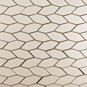 Modwalls Clayhaus Ceramic Mosaic Crystal Hex Pattern B Tile | 103 Colors | Modern tile for backsplashes, kitchens, bathrooms and showers