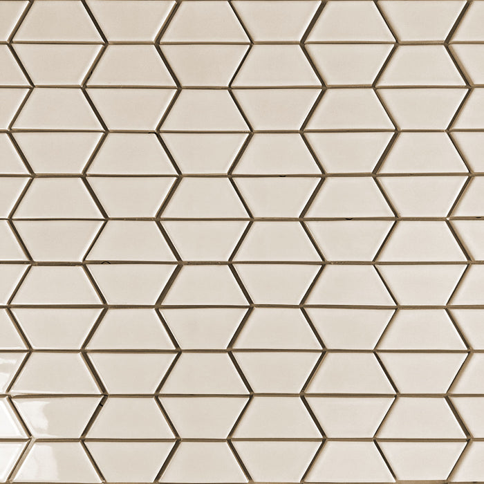 Clayhaus Ceramic Mosaic Half Hex Pattern A Tile | 103 Colors