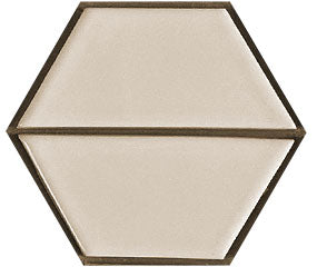 Sample of Clayhaus Mosaic Half Hex Pattern A Ceramic Tile