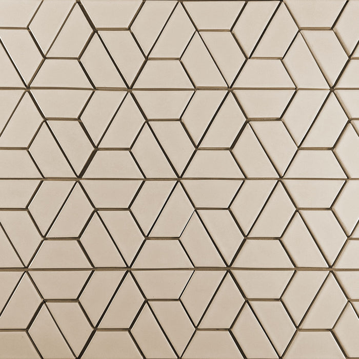 Clayhaus Ceramic Mosaic Half Hex Pattern B Tile | 103 Colors