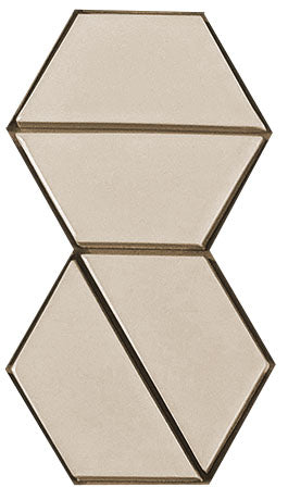 Sample of Clayhaus Mosaic Half Hex Pattern B Ceramic Tile