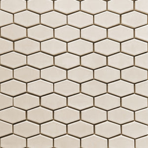 Modwalls Clayhaus Ceramic Mosaic Mini Stretch Hex Tile | 103 Colors | Modern tile for backsplashes, kitchens, bathrooms and showers