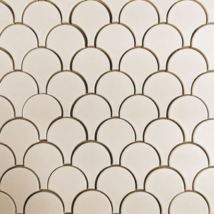 Modwalls Clayhaus Ceramic Mosaic Plume Tile | 103 Colors | Modern tile for backsplashes, kitchens, bathrooms and showers