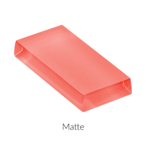 Lush Custom Glass Subway Tile | Coral