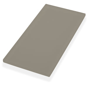 Oasis Driftwood Textured Matte 4x8 Glass Tile - this gray tile can be used for kitchen, backsplash, bathroom, shower, residential floor, or pool installations.