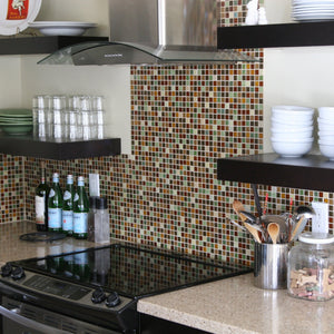 Brio Glass Mosaic Tile | Custom Blend