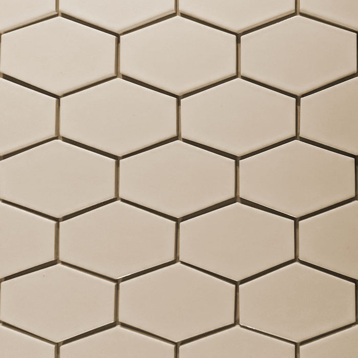 Kiln Ceramic Stretch Hex Tile | 105+ Colors