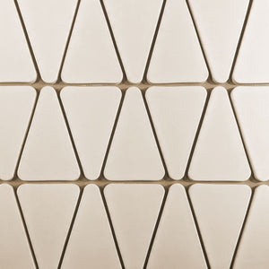 Modwalls Kiln Ceramic Wedge Tile | 103 Colors | Modern tile for backsplashes, kitchens, bathrooms and showers