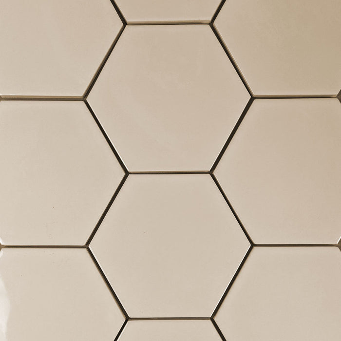 "Kiln Ceramic 5"" Hexagon Tile 