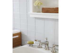 Modwalls Lush Custom Glass Subway Tile | Cloud | Modern tile for backsplashes, kitchens, bathrooms, showers