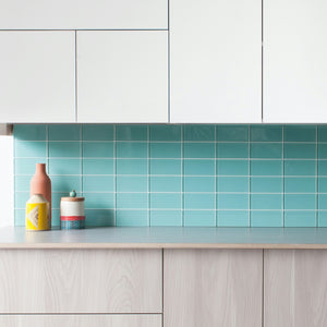 Modwalls Lush Custom Glass Subway Tile | Pool | Modern tile for backsplashes, kitchens, bathrooms, showers