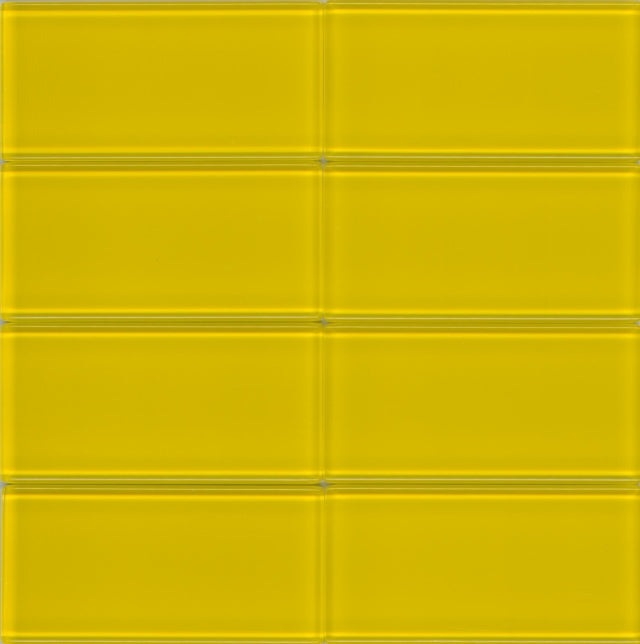 Modwalls Lush Glass Subway Tile | Sunshine 3x6 | Modern tile for backsplashes, kitchens, bathrooms, showers