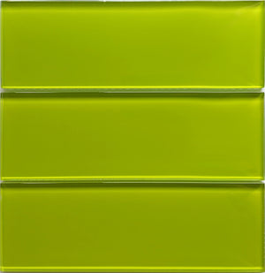 Modwalls Lush Glass Subway Tile | Lemongrass 3x9 | Modern tile for backsplashes, kitchens, bathrooms, showers