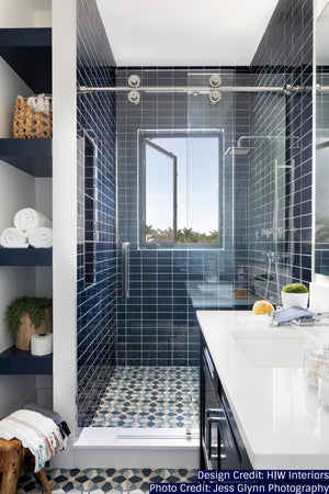 Modwalls Lush Glass Subway Tile | Midnight 3x6 | Modern tile for backsplashes, kitchens, bathrooms, showers