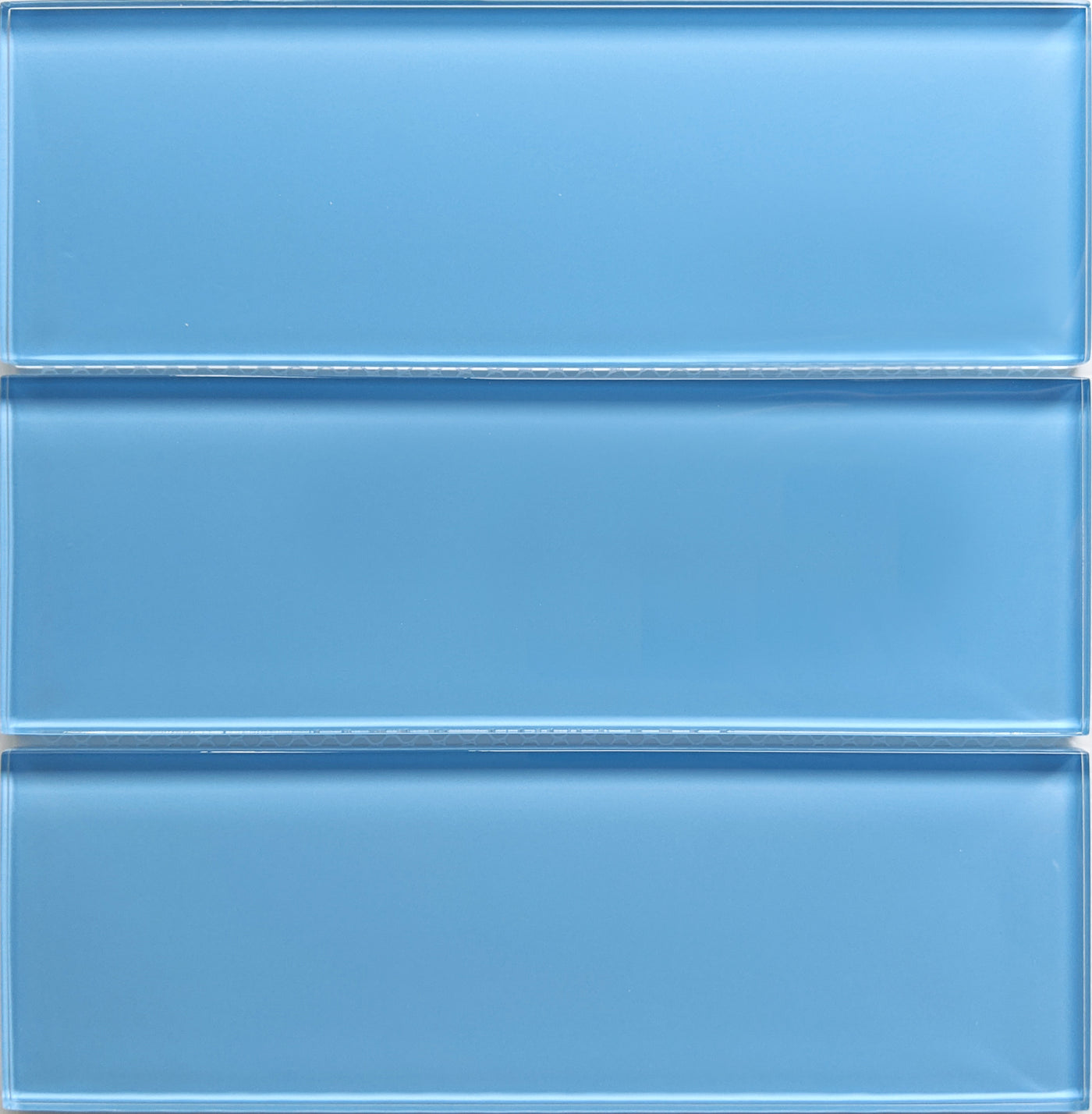 - Modwalls Lush Periwinkle Glass Subway Tile 3x9 Tile Blue