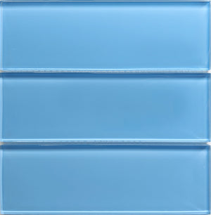 Modwalls Lush Glass Subway Tile | Periwinkle 3x9 | Modern tile for backsplashes, kitchens, bathrooms, showers