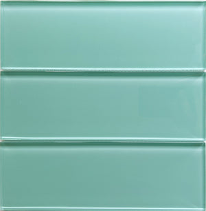 Modwalls Lush Glass Subway Tile | Pool 3x9 | Modern tile for backsplashes, kitchens, bathrooms, showers