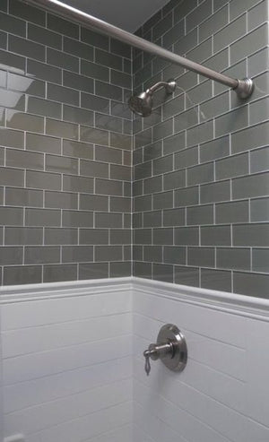 Modwalls Lush Custom Glass Subway Tile | River Rock | Modern tile for backsplashes, kitchens, bathrooms, showers