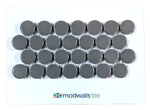 Sample Moddotz Porcelain Penny Round Tile | Warm Gray