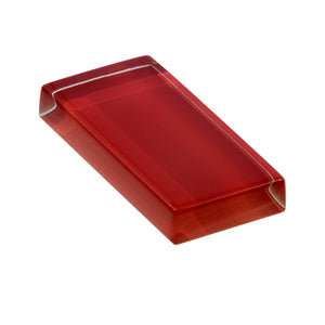 Modwalls Lush Custom Glass Subway Tile | Pomegranate | Modern tile for backsplashes, kitchens, bathrooms, showers