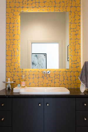 Modwalls Rex Ray Studio Rox Solar Tile | Yellow | Modern tile for backsplashes, kitchens, bathrooms, showers, pools, outdoor and floors
