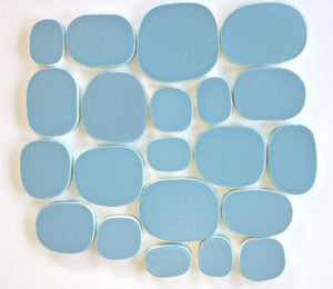 Modwalls Rex Ray Studio Rox Comet Tile | Bright Blue | Modern tile for backsplashes, kitchens, bathrooms, showers, pools, outdoor and floors