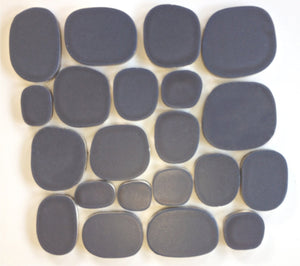 Modwalls Rex Ray Studio Rox Eclipse Tile | Black | Modern tile for backsplashes, kitchens, bathrooms, showers, pools, outdoor and floors