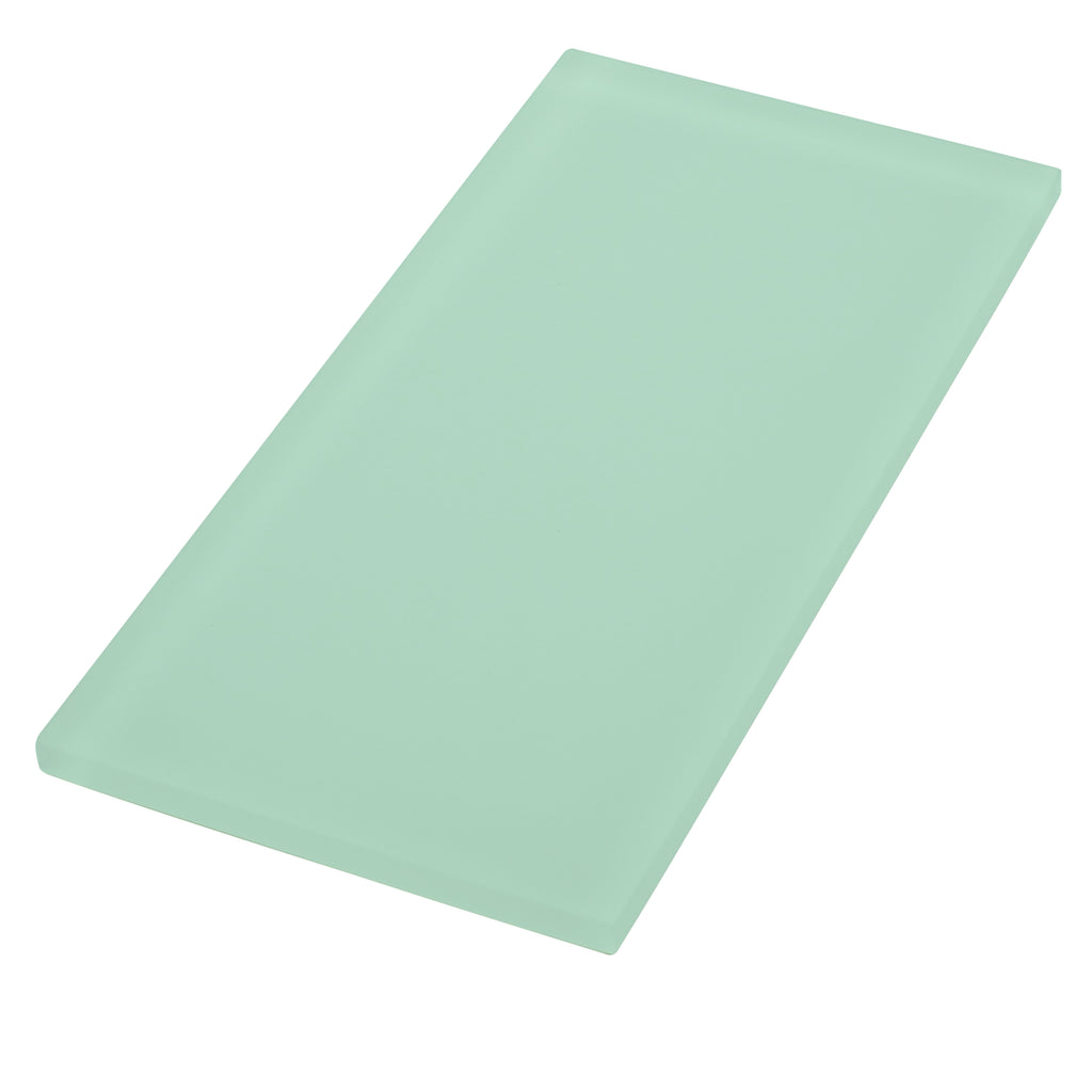 Sample of Oasis Seafoam Brick Glass Tile | Oasis Glass Tile