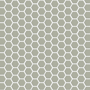 "Basis Mosaic 1"" Hexagon Ceramic Tile 
