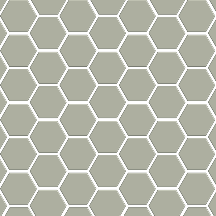 "Basis Mosaic 2"" Hexagon Ceramic Tile 