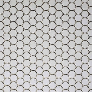 "PopDotz Porcelain Tile | Sno-Drop Blend | 1"" Matte"
