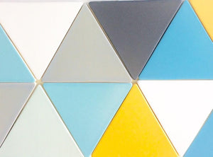 "Modwalls Basis Triangle 8"" Ceramic Floor Tile 