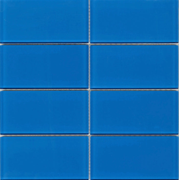 Lush Glass Subway Tile | True Blue 3x6